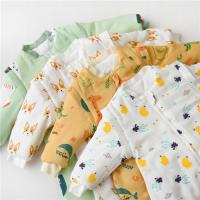 China Double Way Zipper Organic Baby Pajamas Removable Sleeves Design Wearable Sleeping Wrap on sale