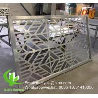 Aluminum perforated privacy screen panel for curtain wall facade cladding wall panel perforated screen