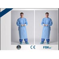 China Breathable Sterile Disposable Hospital Gown For Blood / Microbe Prevention on sale