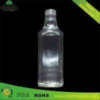 Best 375ml Blown Square Glass Bottle for Gin wholesale