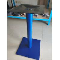 China Sqaure Powder Coated Table Base / Adjustable Feet Colorful Stainless Steel Dining Table Legs on sale