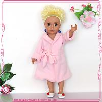 China Doll Clothes 18 inch pink American girl doll pajamas on sale