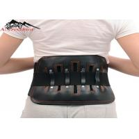Leather Sports Lumbar Support Belt For Back Pain , S - XL Size Custom