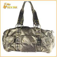 Cheap Fashion Popular Lady Washed PU Leather Handbag for sale