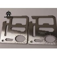 Best Metal    Multi Function  Stainless Steel Business Cards Outdoor   Camping Travelling Support wholesale