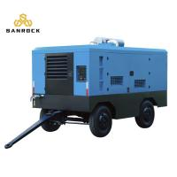 China Four Wheels  Diesel Screw Air Compressor  Energy Saving 10-25 Bar Working Pressure on sale