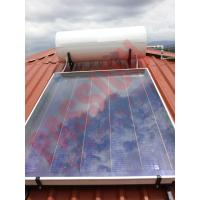 Best Rooftop Pressurized Flat Plate Solar Water Heater , Solar Powered Heater Blue Film Coating wholesale