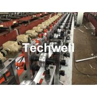 Best PLC Frequency Control PU Foam Roller Shutter Slat Machine With Guiding Column Forming Frame Structure wholesale
