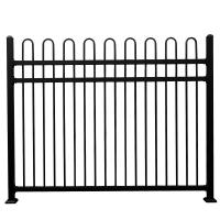 China Hot sale tubular steel fence metal fence spikes  different colors on sale