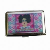 China Metal Business Card Case with Epoxy and Gold/Silver/Black Finish on sale