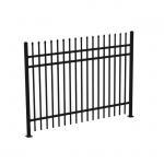 Best 1.8mH 3 Rails Galvanized Wrought Iron Fence Panels , Decorative Metal Fencing wholesale