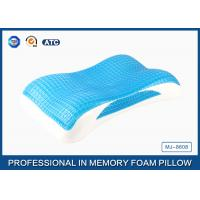 China Wave Contour Memory Foam Cooling Gel Pillow with Luxury Tencel Pillow Cover on sale