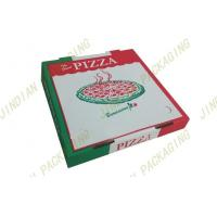 China Foldable Custom Pizza Boxes For Delivery, Corrugated Paper Pizza Packing Boxes on sale