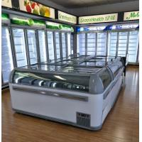 Best Commercial Plug In Combine Island Display Freezer Showcase For Ice Cream , Meat wholesale