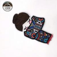 China Cute Mini Portrait Sew On Embroidered Patches Specially Designed Customized color on sale