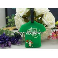 Best T-shirt shape pvc luggage tag custom personalized fashion boarding travel luggage tag supply wholesale
