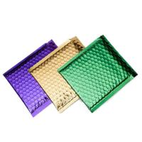 Best Colorful Metallic Glamour Bubble Mailers , Metallic Shipping Envelopes Tear Resistant wholesale