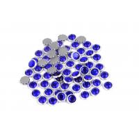 Best 12 / 14 Facets Rimmed Rhinestones Lead Free Round Shape For Nail Art / Shoes wholesale