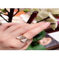 Best 18KT Yellow Gold Diamond Pave  Divas Dream Ring With White Mother Of Pearl wholesale