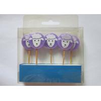 Best Purple Birthday Gift Wax Pick Candles , Lovely Sheep Shape Paraffin Candle wholesale