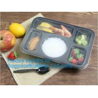 Best 3 compartment plastic food storage Microwave Freezer Safe Plastic Disposable lunch box,Fast food container disposable ta wholesale