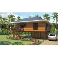 Best Heat Insulation Prefab Home Beach Bungalows , Customized Light Steel Bungalow wholesale