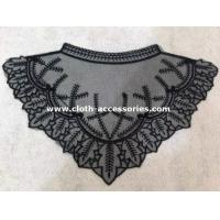 China Triangle Crochet Collar Necklace / Embroidery Lace Collar For Floral Print Shirt on sale