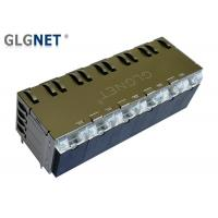 Buy cheap Copper Alloy Stacked RJ45 Connectors 12 Ports Pcb Rj45 Jack 1000 BASE - T With from wholesalers