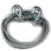 China Solar Galvanized swaged steel wire rope sling with double hook on sale