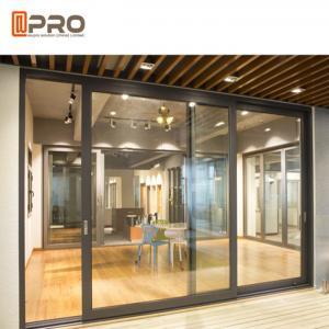 China Thermal Break Aluminium Sliding Glass Doors Color Optional With Security System interior door sliding sliding door frame on sale