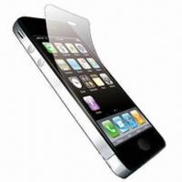 China Mobile Phone Protective Film for iPhone 4, with Cleaning Cloth on sale