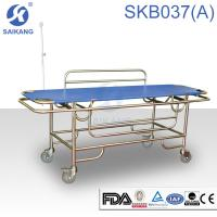 China Hospital Furniture:Patient Trolley.SKB037(A) Stainless Steel Patient Trolley on sale