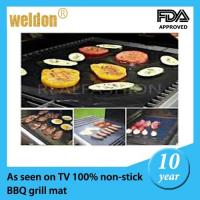 Best Reusable PTFE Coated Fabric BBQ Grill Mats Dishwasher / portable bbq grill wholesale
