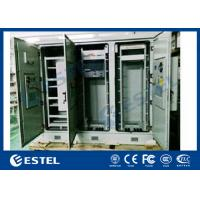 Best IP55 Triple Bay Racking Outdoor Telecom Enclosure With Air Conditoner Cooling System wholesale