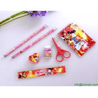 China Promotional Cheap School Stationery Set for Kids with PVC Bag,personalized stationery set on sale