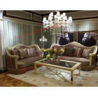 Best Luxury Design and Romantic Sofa set made by Wooden Carving Frame with Fabric Upholstery wholesale