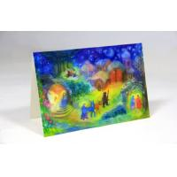 China Folded Fancy Color Paper Christmas Card Printing Service , 3D Christmas Card on sale
