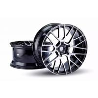 Best 20 Inch Custom Forged Wheels One Piece Aluminum Rims Staggered Glossy Black with Polished Spokes Light Weight wholesale