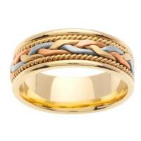 Best Mens Wedding Ring with Handmade Design in 7mm 14kt Gold wholesale
