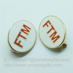 Cloisonne Emblem Lapel Pins, soft enamel monogram letter badge pins with safety pin