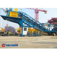 Best 35 R / Min Universal Mobile Concrete Batching Plant YHZS50 Model 50m3 / H Rated Capacity wholesale