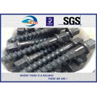 Best Customized 35# 45# Railroad Screw Spike For Railway Fastening System Construction wholesale
