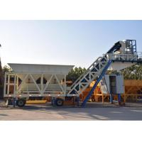 China Ready Concrete Batch Mix Plant Movable With Cement Silos 30kw Mixer Power on sale
