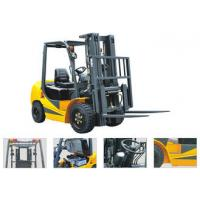 Best 2500kg Four Wheel Gasoline LPG Forklift Gas Powered With Three Stage Mast Lift Height 6m wholesale