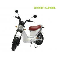 Best White Color Pedals Assist Electric Scooter Bike For Adults , 500w Brushless Controller wholesale