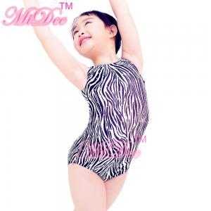 Best Confetti Strechy Spandex Zebra Animal Prints Sleeveless Leotard Dance Wear Accessories wholesale