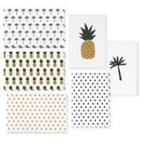 Best 4x6 Inch Holiday Greeting Cards Pineapple / Palm Tree / Triangle Pattern Available wholesale