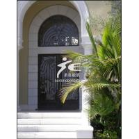 China Hand Forged Wrought Iron Entry Door on sale
