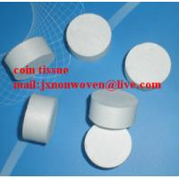 Best magic coin tissue/color box packing compressed disposable towel wholesale
