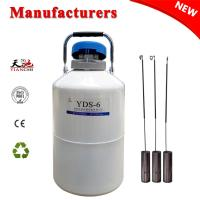 Best TIANCHI LN2 Container 6L Equine Semen Dewar Tank With Straps 6 Canisters Price wholesale